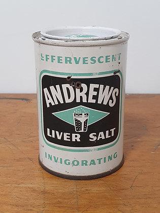 Andrews Liver Salt Tin, Bear Wares Vintage, www.bearwaresvintage.com.au, old shop, advertising, old tins, general store,