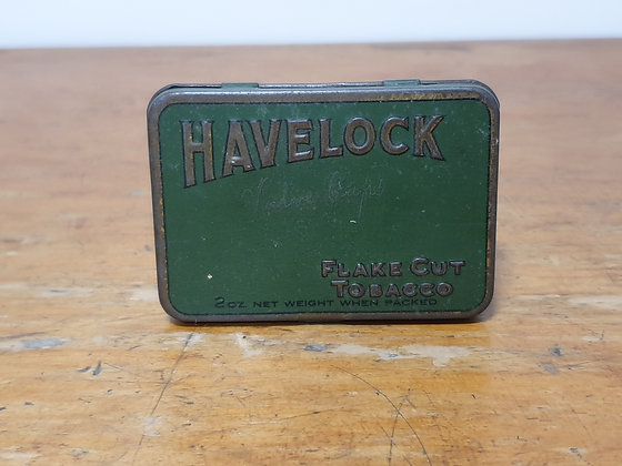 Havelock Flake Cut Tobacco 2 oz tin Bear Wares Vintage www.bearwaresvintage.com.au Old tobacco tin shop advertising
