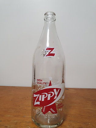 Zippy 24 oz Ceramic Label Bottle www.bearwaresvintage.com.au Old bottles old advertising general store