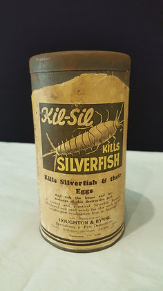 Kil-sil Insect powder tin/Mary-Ann Household Cleaner, Bear Wares Vintage www.bearwaresvintage.com.au Vintage shop advertising
