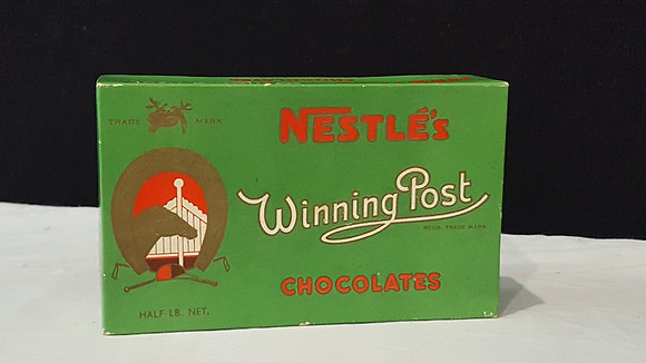 Nestle's Winning Post 1/2 lb Choc Box. Bear Wares Vintage www.bearwaresvintage.com.au Vintage shop advertising