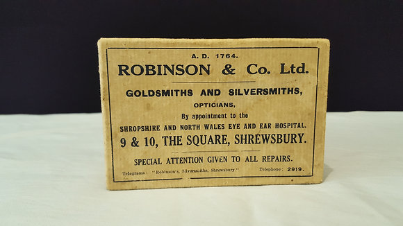 Robinson & Co. Goldsmiths & Silvermiths Box, Bear Wares Vintage www.bearwaresvintage.com.au Vintage shop advertising