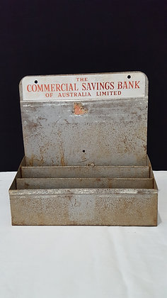 Commercial Savings Bank Display, Bear Wares Vintage www.bearwaresvintage.com.au Vintage advertising, shop display, old signs