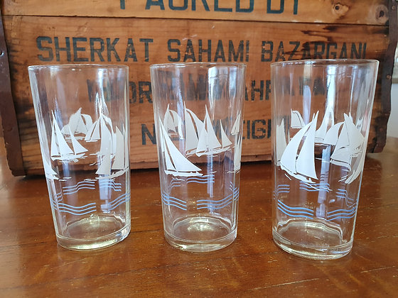 Retro Glasses, Bear Wares Vintage, www.bearwaresvintage.com.au, old glasses, grandma had these, retro, vintage glass,