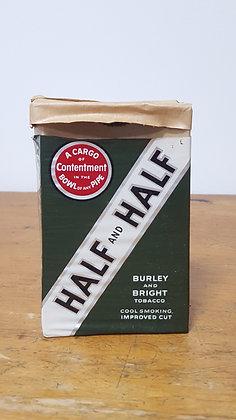 Burley and Bright Tobacco Half and Half Paper box Bear Wares Vintage www.bearwaresvintage.com.au Old shop advertising