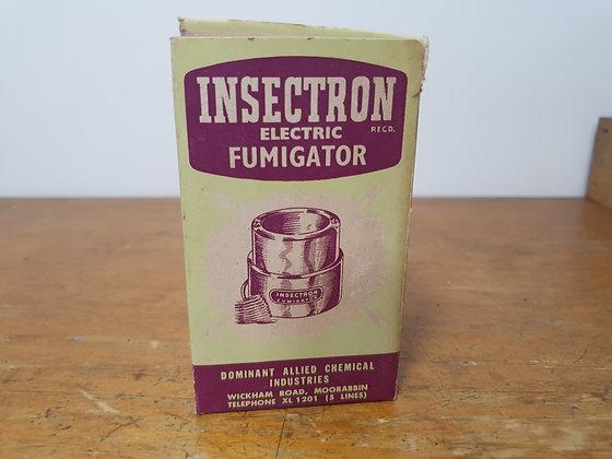 Insectron Cardboard Box Bear Wares Vintage www.bearwaresvintage.com.au Old shop advertising general store