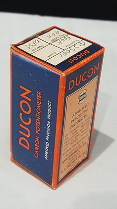 Bear Wares Vintage Ducon Carbon Potentiometer PSS001 box, www.bearwaresvintage.com.au Vintage shop advertising