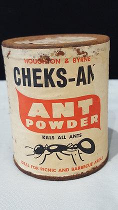 Cheks-Ants Powder 8 oz tin, Bear Wares Vintage www.bearwaresvintage.com.au Vintage shop advertising
