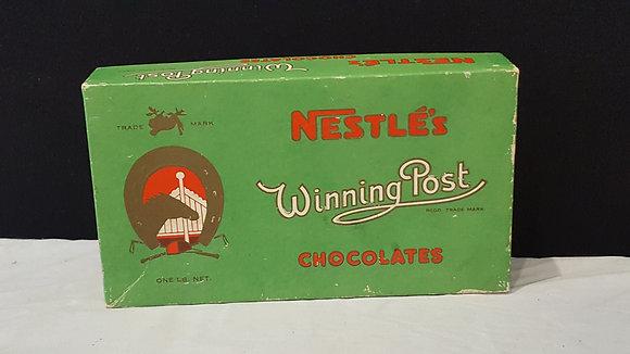 Nestle's Winning Post 1 lb Choc Box, Bear Wares Vintage www.bearwaresvintage.com.au Vintage shop advertising
