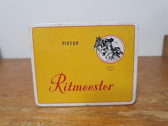 Ritmeester Cigarette Tin www.bearwaresvintage.com.au Vintage tobacco old shop advertising