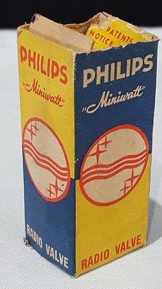 Bear Wares Vintage Phillips Miniwatt 3Q4 Electron Valve Box, www.bearwaresvintage.com.au Vintage shop advertising