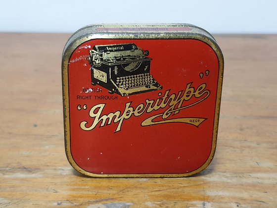 Imperitype Ribbon Tin Bear Wares Vintage www.bearwaresvintage.com.au Old shop advertising