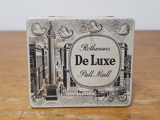 Rothmans De Luxe Tobacco Tin Bear Wares Vintage www.bearwaresvintage.com.au Old shop advertising tobacco general store