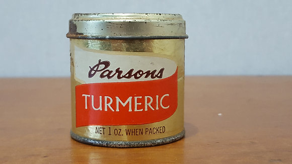 Bear Wares Vintage Parsons Tumeric Tin www.bearwaresvintage.com.au Old shop advertising