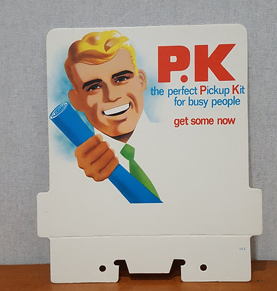 PK Wrigley Advertising Showcard