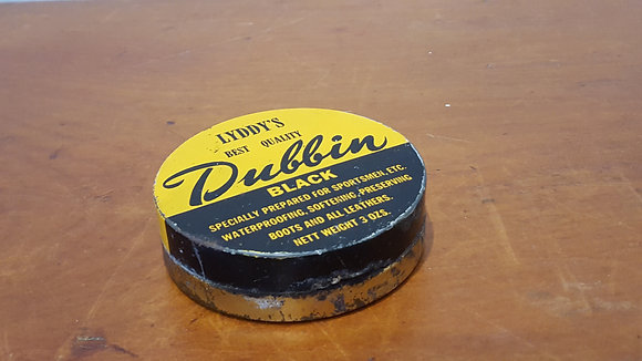 Bear Wares Vintage Lyddy's Dubbin Black Polish Tin www.bearwaresvintage.com.au Old shop advertisng general store
