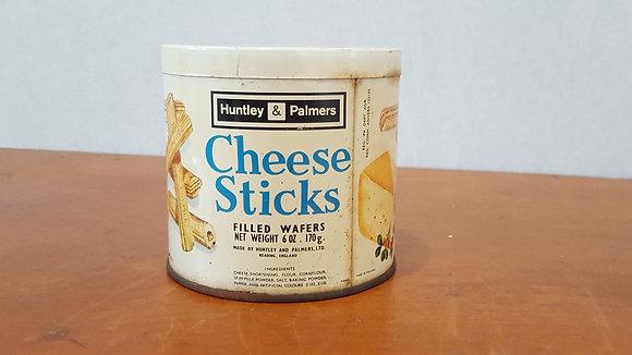 Bear Wares Vintage Cheese Sticks 6 oz Tin www.bearwaresvintage.com.au Old shop advertising general store vintage grocery tin