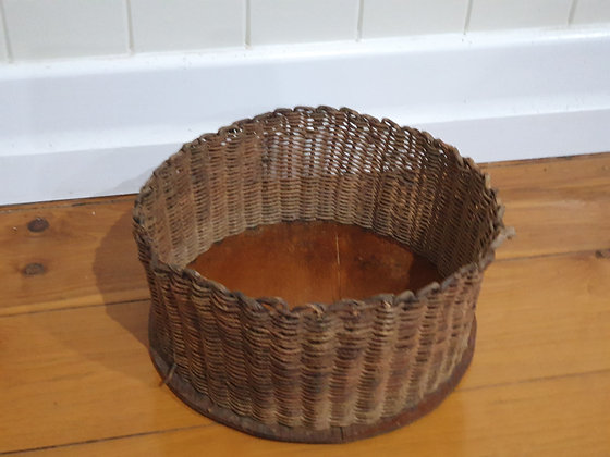 Vintage Woven Basket, Bear Wares Vintage www.bearwaresvintage.com.au Old fruit bowl vintage interiors repurpose