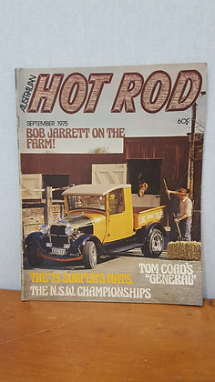 Bear Wares Vintage Australian Hot Rod Sept 1975 Magazine www.bearwaresvintage.com.au