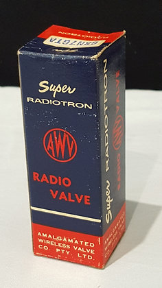 Bear Wares Vintage Vintage Advertising AWV Super Radiotron Radio Valve Box - 6SN7GTA Vintage shop advertising