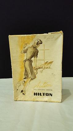 Hilton Hoisery Cardboard box, Bear Wares Vintage www.bearwaresvintage.com.au Vintage shop advertising