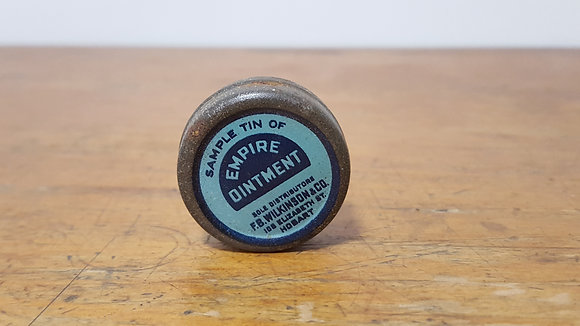 Sample Empire Ointment Tin Bear Wares Vintage www.bearwaresvintage.com.au Old shop advertising old tins