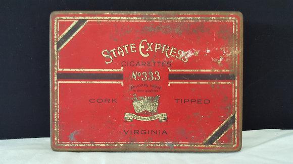 State Express Cigarettes Tin. Bear Wares Vintage www.bearwaresvintage.com.au Vintage advertising