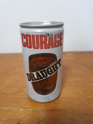 Courage Draught Ansett 370ml Beer Can