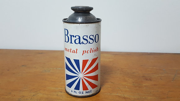 Brasso Metal Polish 6 fl oz tin Bear Wares Vintage www.bearwaresvintage.com.au Old shop advertising