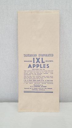 Bear Wares Vintage IXL Apples Paper Bag www.bearwaresvintage.com.au Old shop advertising