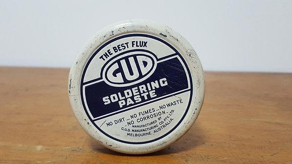GUD Soldering Paste 2 oz Tin Bear Wares Vintage www.bearwaresvintage.com.au Old shop advertising