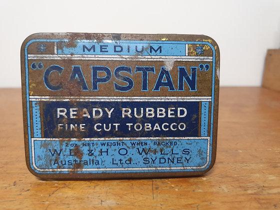 Capstan Fine Cut Tobacco Tin Bear Wares Vintage www.bearwaresvintage.com.au Old shop adveritising tobacco tins general store