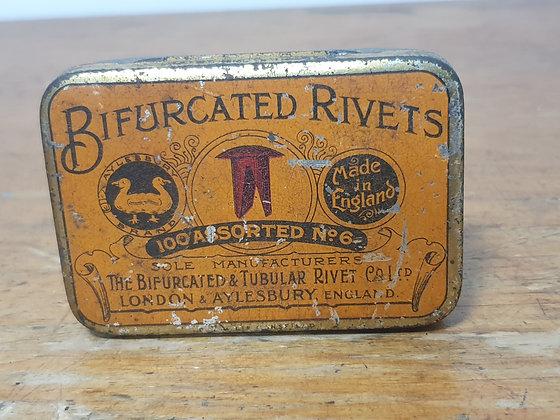 Bifurcated Rivets Tin Bear Wares Vintage www.bearwaresvintage.com.au Old shop advertising old tins general store