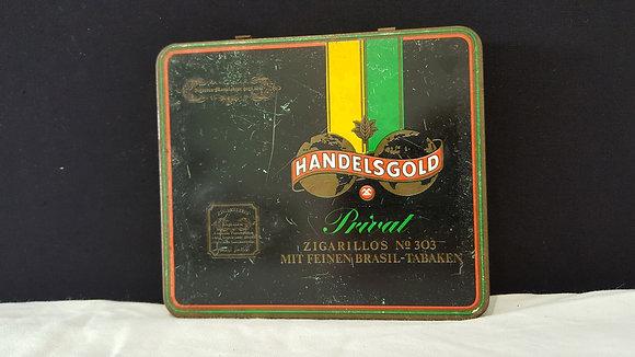 Handelsgold Cigarettes Tin. Bear Wares Vintage www.bearwaresvintage.com.au Vintage shop advertising