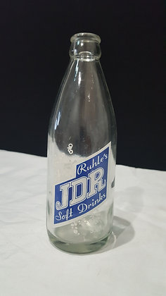 JDR Ruhle's Soft Drinks 300ml Warwick Ceramic Label Crown Seal, Bear Wares Vintage www.bearwaresvintage.com.au Advertising