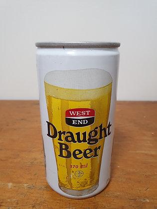 West End Draught 370ml Beer Can Bear Wares Vintage www.bearwaresvintage.com.au Old shop vintage beers steel cans mancave