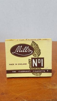 Bear Wares Vintage Mills Clubman's Cigarette Packet www.bearwaresvintage.com.au Old shop advertising