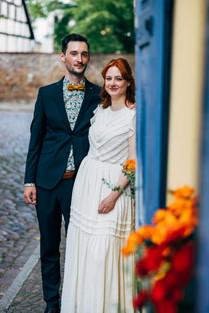 Brautpaar im Vintage Look