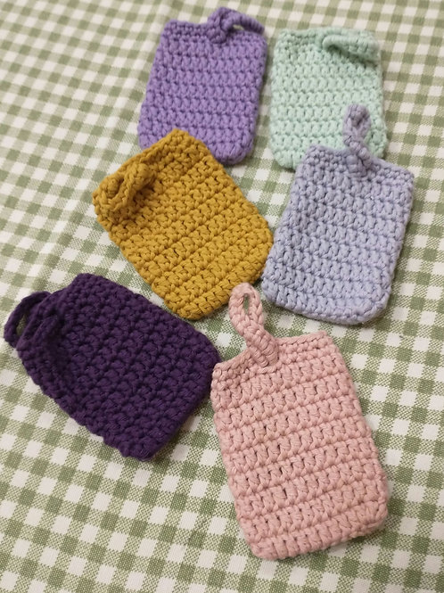 Hand crocheted soap savers