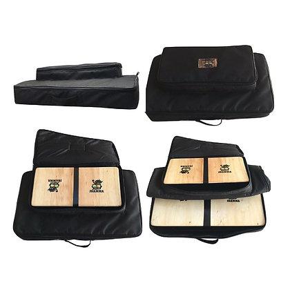 Kit Bongô Compacto + Conga Compacta + Bag Dupla