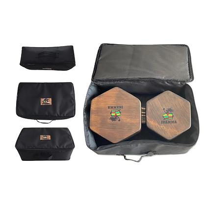 Bongô Hexagonal + Bag de Transporte  - Rústic Series