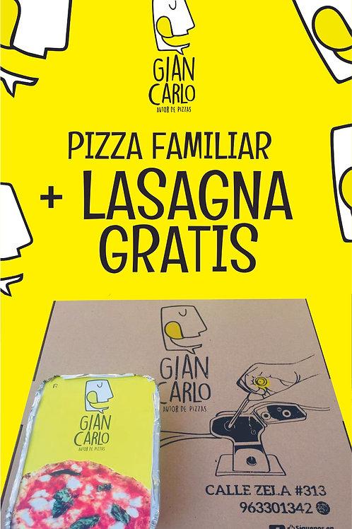 Promo Pizza Familiar+ Lasagna gratis!!