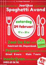 Affiche spaghettiavond KLJ Diepenbeek