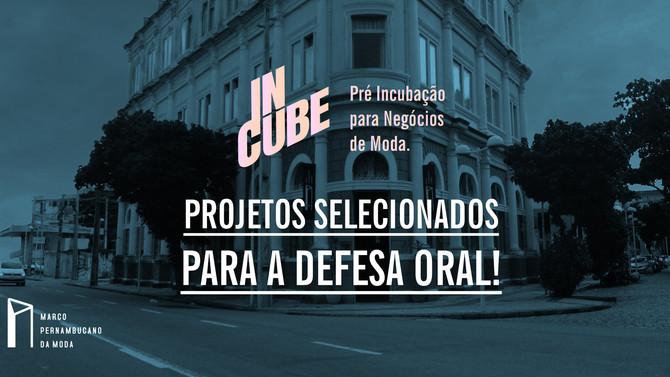 Projetos vão para a próxima fase de seleção do InCube!