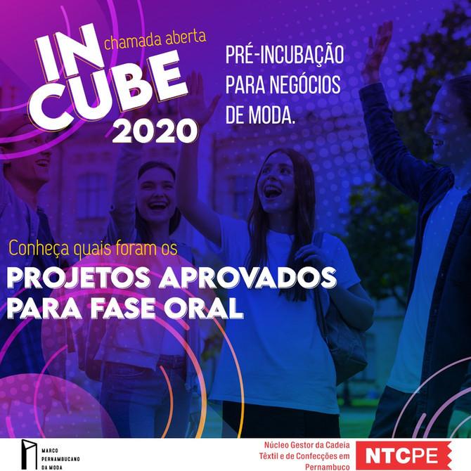 PROJETOS VÃO PARA A PRÓXIMA FASE DE SELEÇÃO DO INCUBE 2020 - RECIFE E AGRESTE