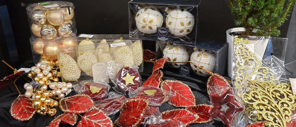 Kerstboom pakket 3 - rood/goud