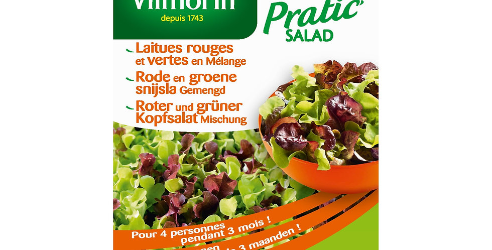 Rode en groene snijsla gemengd (Pratic salad)