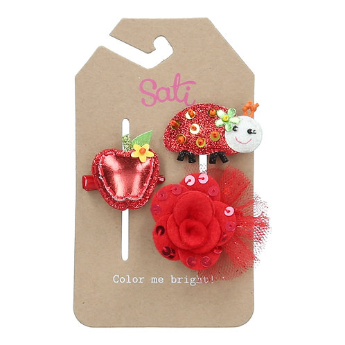 Little Red Bug Set Hair Clip