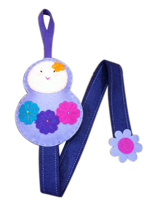 Russian Doll (Violet) Hair Clip Holder
