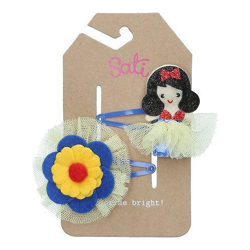 Apple Fairy with Flower Hair Clip